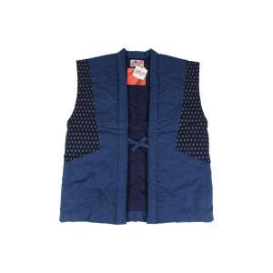 半纏 (はんてん) MTP-2 青色 男女兼用 久留米 おしゃれポンチョ 日本製 宮田織物|ran