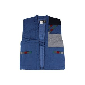 半纏 (はんてん) MTP-7 青色 男女兼用 久留米 おしゃれポンチョ 日本製 平田織布|ran