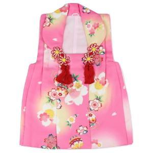 七五三 被布コート HOK-2 桜・毬柄 ポリエステル 3歳〜4歳 ピンク|ran