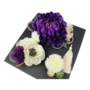髪飾り KK-11 成人式 結婚式 花の髪飾り 4点セット 卒業式 袴|ran