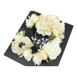 髪飾り KK-12 成人式 結婚式 花の髪飾り 4点セット 卒業式 袴|ran