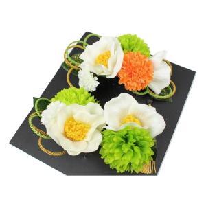 髪飾り KK-15 成人式 結婚式 花の髪飾り 4点セット 卒業式 袴|ran