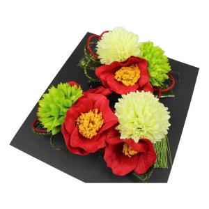 髪飾り KK-18 成人式 結婚式 花の髪飾り 4点セット 卒業式 袴 ran