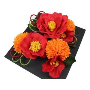 髪飾り KK-20 成人式 結婚式 花の髪飾り 4点セット 卒業式 袴|ran