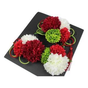 髪飾り KK-4 成人式 結婚式 花の髪飾り 4点セット 卒業式 袴|ran