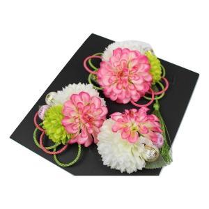 髪飾り KK-7 成人式 結婚式 花の髪飾り 4点セット 卒業式 袴|ran