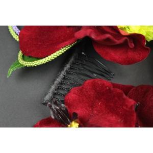 髪飾り KK-9 成人式 結婚式 花の髪飾り 4点セット 卒業式 袴|ran|04