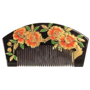 櫛かんざし 簪 くし型 金加工 お洒落櫛かんざし 髪飾り 櫛簪 日本髪 前簪 KAS-10|ran