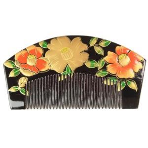 櫛かんざし 簪 くし型 金加工 お洒落櫛かんざし 髪飾り 櫛簪 日本髪 前簪 KAS-11|ran