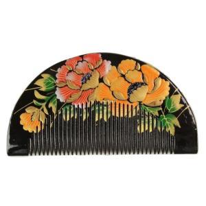 櫛かんざし 簪 くし型 金加工 お洒落櫛かんざし 髪飾り 櫛簪 日本髪 前簪 KAS-14|ran