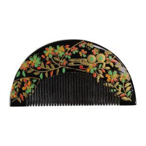 櫛かんざし KAS-16 黒色 簪 くし型 金加工 お洒落櫛かんざし 髪飾り 櫛簪 日本髪 前簪|ran