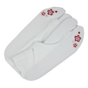 子供用 足袋 RST ちびっこ姫 刺繍入り 楽ちんストレッチ こども足袋 (すべり止め付き) 花柄 17〜18cm|ran