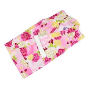訳あり キッズ浴衣 KKU-41 女の子 変り織 お仕立て上がり 120 苺・花柄 ピンク色|ran