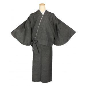 二部式着物 紬 TFN-1 セパレート きもの 簡単着付け 龍郷柄 フリーサイズ|ran