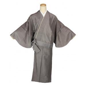 二部式着物 小紋 TFN-11 セパレート きもの 簡単着付け 縞柄 フリーサイズ|ran