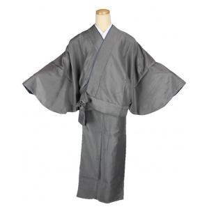 二部式着物 小紋 TFN-12 セパレート きもの 簡単着付け 縞柄 フリーサイズ|ran