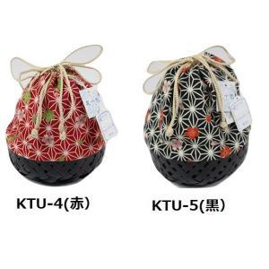 かご巾着 KTU-4・5 夏十色ブランド 麻の葉柄 竹かご巾着|ran