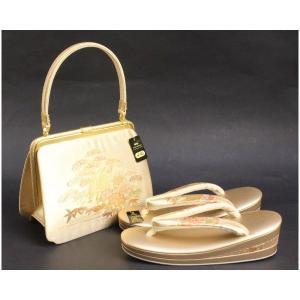 金鷲本舗 高級 草履(3枚芯)12金真鍮バッグセット  Mサイズ 3KS3|ran