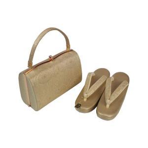金鷲本舗  礼装用 帯地 金地 草履バッグセット 2枚芯  Lサイズ  キンワシ印 KBZ-4 日本製|ran