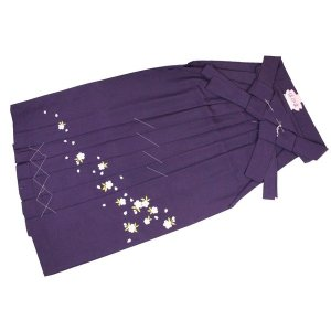 袴 無地 刺繍入り 単品 卒業式 入学式 紫 SS〜LLLサイズ ran