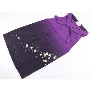 卒業式 入学式 桜刺繍入り 袴 単品 紫ボカシ ジュニアから大人まで SSサイズ〜3Lサイズ ran