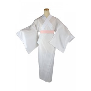 長襦袢 KKP 夏用 平絽 本仕立て お仕立て上がり かけ衿付き 洗える M/Lサイズ|ran