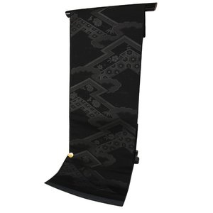 夏用 正絹 西陣織 絽 漆入り 黒共 名古屋帯 RQN-2 お仕立て(帯芯入り)付 未仕立て品|ran