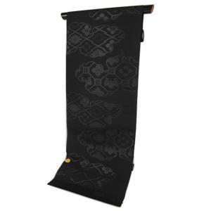 夏用 正絹 西陣織 絽 漆入り 黒共 名古屋帯 RQN-3 お仕立て(帯芯入り)付 未仕立て品|ran