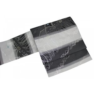 名古屋帯 九寸 西陣織  絽 夏用 正絹 NRN-10 証紙番号 2392 お仕立て上がり|ran