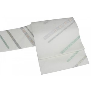 名古屋帯 九寸 西陣織  絽 夏用 正絹 NRN-8 証紙番号 1738 お仕立て上がり|ran