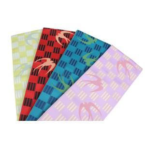 細帯 OHK-3-6 リバーシブル帯 半巾帯 小袋 日本製 ツバメ柄 ポリエステル100%|ran