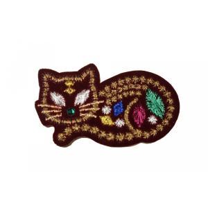 帯留 ワッペン WP-2 キャット Cat 猫柄|ran