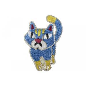 帯留 ワッペン WP-3 キャット Cat 猫柄|ran