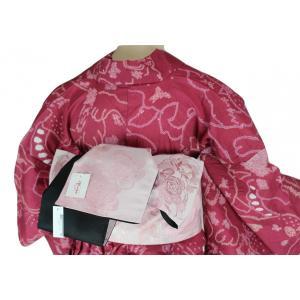 咲く季ブランド ラメ入りローズ/市松柄  リバーシブル 浴衣帯 小袋 SAO-1 日本製|ran