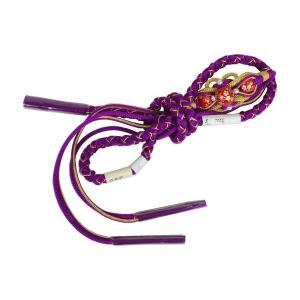 転写玉 高級 振袖用 翠嵐工房  帯締めFTO-5  日本製 手作り 紫赤|ran