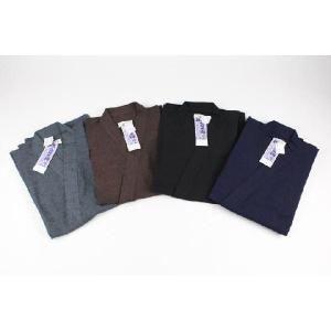 伝統 久留米織 藍紬 男性用 作務衣 |ran