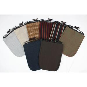 巾着 男性用 OSK-17-24 信玄袋 ウール レトロ 日本製|ran