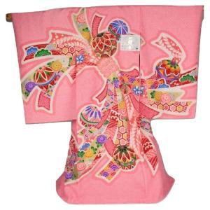 お宮参り 正絹 絞り柄 女児 産着 毬 絞り のし柄 御祝着(のしめ) MU-21 ran