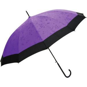 桜とうさぎが浮き出る 十二本骨蛇の目風撥水和傘 JK-61(紫)|ran