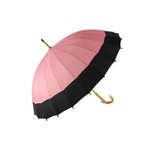 桜音符 不思議傘 水に濡れると柄が出る 傘 桃花色に黒 YS-011-2 KSA-24-1|ran