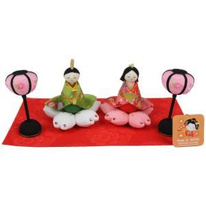 【和雑貨】 かわいい 飾り 1-706  お雛様 節句人形  桜満開雛 日本製|ran