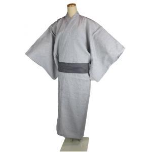 浴衣 SKC 男物 仕立て上がり しじら織り 綿浴衣 白絣 男性用 M・L・LL・3Lサイズ|ran