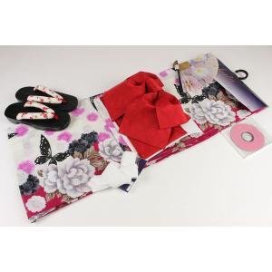 4Lサイズ お仕立て上り浴衣7点セット(作り帯,下駄25.5cm,重ね衿,扇子はおまかせです)FUR-5A|ran