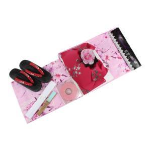 浴衣 セット TAL-29 トールサイズ 7点セット 浴衣セット(作り帯TWK-9・下駄SI-2) 花柄|ran