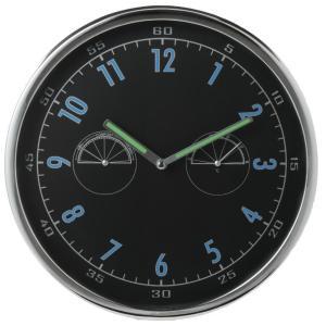 壁掛け温湿表示付き時計 暗い場所でも光って見えやすい長針が便利|rankup