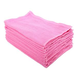 まとめ買いセット カラー フェイスタオル (34×85cm) 綿100% 12枚組 200匁 ピンク
