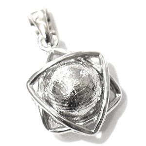 ギベオン隕石 六芒星(ダビデの星) スターリングシルバー ペンダントトップ|ソロモンの印|イスラエル|ユダヤ教|ダビデの星|メテオライト|rapanui