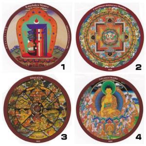 チベット密教ステッカー|曼荼羅|マントラ メール便対応可|rapanui