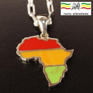 rastavibrations ラスタカラー 母なるアフリカ大陸 シルバー ペンダントトップ  ラスタバイブレーション メール便対応可 rapanui