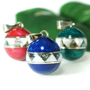 メキシコ MUSICAL BALL ミュージカルボール メキシカンボール ブルー、グリーン、レッド ペンダントトップ |ガムランボール|音玉|ミュージック|rapanui